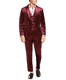 INC Men's Slim-Fit Velvet Suit Seperates, Created For Macy's