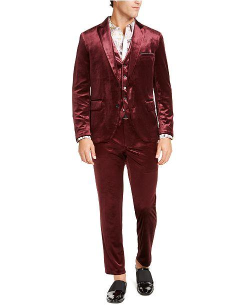 INC International Concepts INC Men's Slim-Fit Velvet Suit Seperates, Created For Macy's