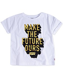 Big Girls Cotton Make The Future Ours T-Shirt