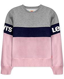 Levi's® Big Girls Colorblocked Fleece Sweatshirt