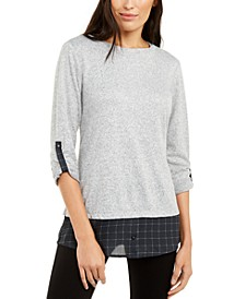 Petite Split-Back Layered Tunic