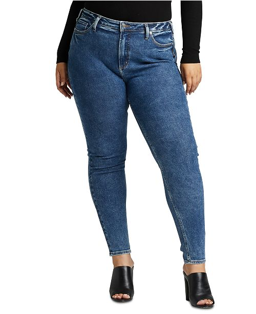 Silver Jeans Co. Trendy Plus Size High-Rise Skinny Jeans