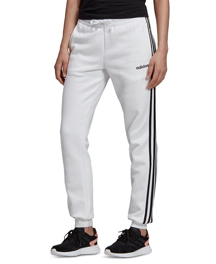 adidas Women's Essentials Fleece 3-Stripe Full Length Joggers ...