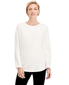 Petite Microfleece Top, Created For Macy's