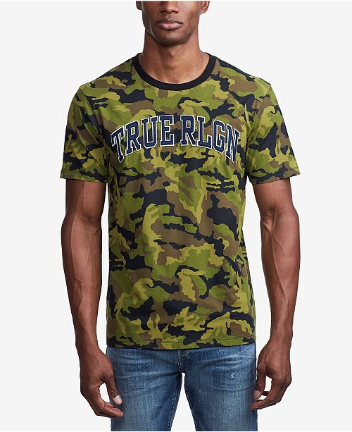 True Religion Men's Camo Printed T-Shirt
