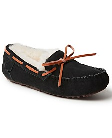 Dearfoams Fireside Victoria Shearling Moccasin Slippers