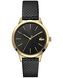 Women's 12.12 Black Leather Strap Watch 36mm