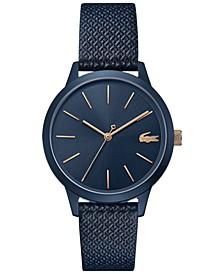 Women's 12.12 Blue Leather Strap Watch 36mm