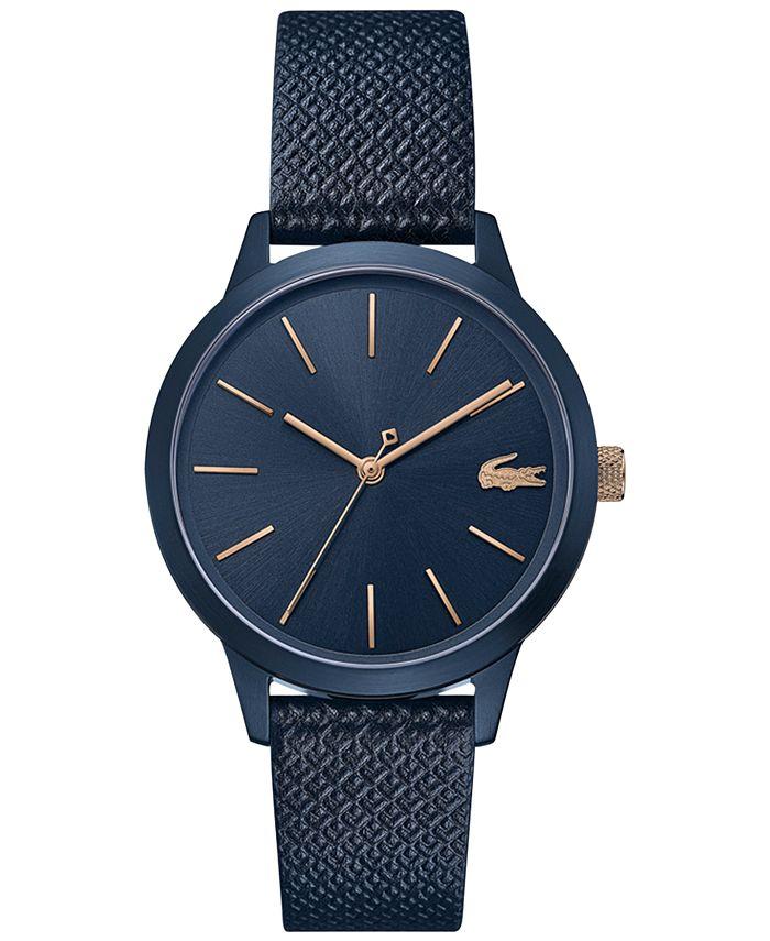 Lacoste - Women's 12.12 Blue Leather Strap Watch  36mm