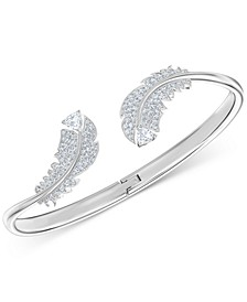 Crystal Feather Cuff Bracelet