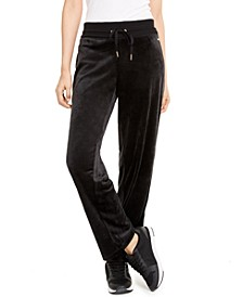 Velour Wide-Leg Pants