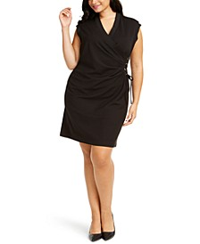 Plus Size V-Neck Side-Laced Sheath