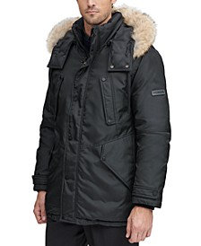 Men's Lafayette Four Pocket Parka with Removable Fur Trimmed Hood