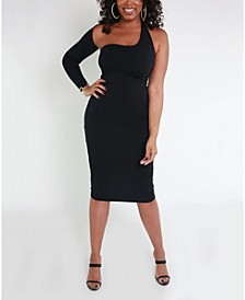 One Shoulder Midi Dress by The Workshop at Macy's