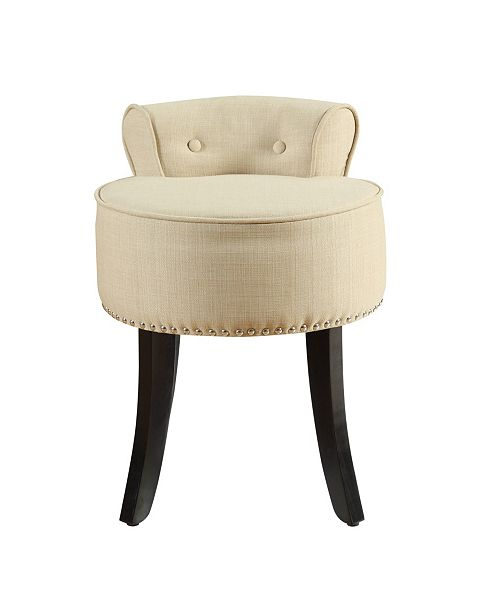 Fantastic Taylor Upholstered Vanity Stool With Nailhead Trim Cjindustries Chair Design For Home Cjindustriesco