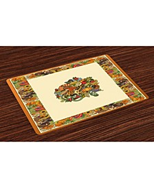 thanksgiving Place Mats, Set of 4