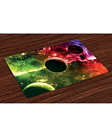 Psychedelic Place Mats, Set of 4