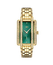 JBW Women's Mink Diamond (1/8 ct. t.w.) Watch in 18k Gold-plated Stainless Steel Watch 28mm