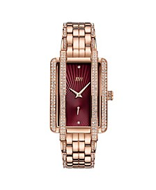 Women's Mink Diamond (1/8 ct. t.w.) Watch in 18k Rose Gold-plated Stainless Steel Watch 28mm