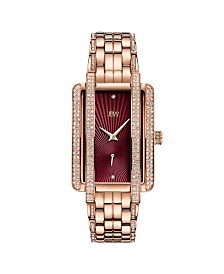 JBW Women's Mink Diamond (1/8 ct. t.w.) Watch in 18k Rose Gold-plated Stainless Steel Watch 28mm