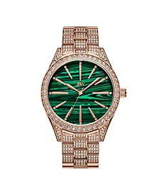 Women's Cristal Gem Diamond (1/8 ct. t.w.) Watch in 18k Rose Gold-plated Stainless-steel Watch 39mm