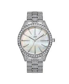 JBW Women's Cristal Gem Diamond (1/8 ct. t.w.) Watch in Stainless-steel Watch 39mm
