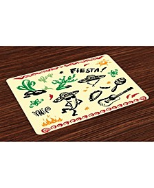 Mexican Place Mats, Set of 4