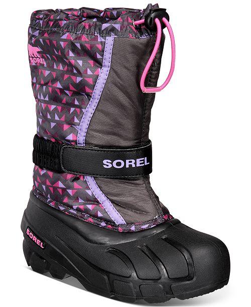 Sorel Youth Girls Flurry Print Boots