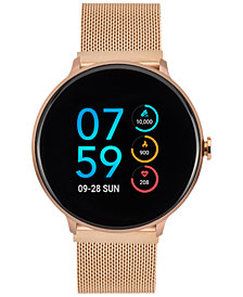 iTouch Sport Rose Gold-Tone Stainless Steel Mesh Bracelet Touchscreen Smart Watch 43.2mm