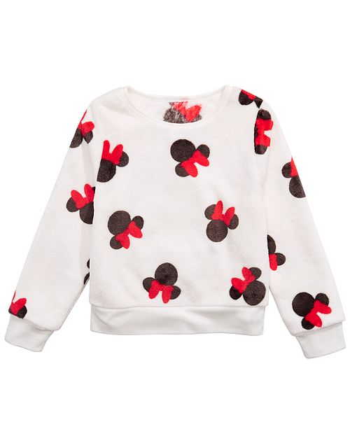 Evy of California Disney Little Girls Minnie Mouse Sweatshirt