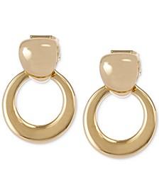 Gold-Tone Doorknocker Drop Earrings