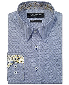 Men's Modern-Fit Diamond Grid Shirt