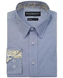 Men's Modern-Fit Diamond Grid Shirt