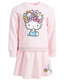 Little Girls 2-Pc. Sweatshirt & Skirt Set