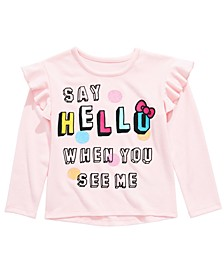 Little Girls Say Hello Ruffled Sweatshirt