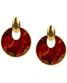 Leather Doorknocker Earrings
