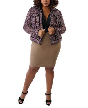 Plus Size Tweed Jacket