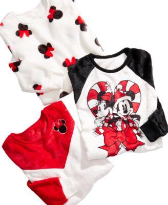 Disney Big Girls Mickey & Minnie Mouse Candy Cane Sweatshirt