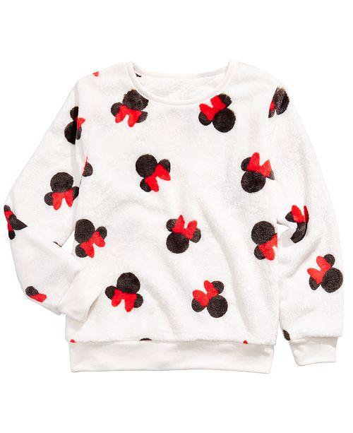 Disney Big Girls Minnie Mouse Sweatshirt
