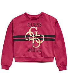 Big Girls Glitter Logo Sweatshirt