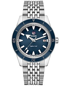 Men's Swiss Automatic Captain Cook Tradition Stainless Steel Diver Bracelet Diver Watch 42mm
