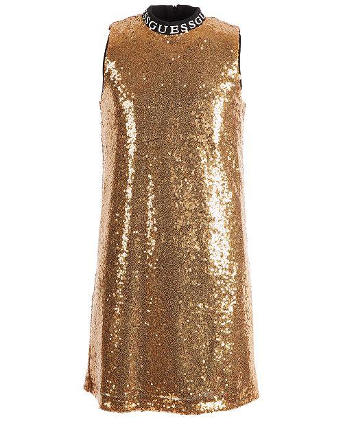 GUESS Big Girls Gold Sequin Dress