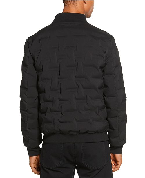 Dkny Men S Quilted Bomber Jacket Amp Reviews Coats