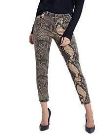 Samara Snake Print Skinny Jeans
