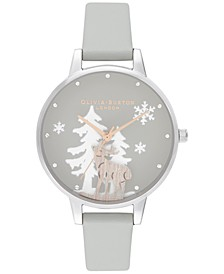 Women's Winter Wonderland Gray Strap Watch 30mm