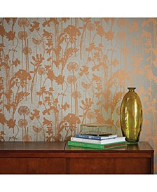 Distressed Floral Self-Adhesive Wallpaper
