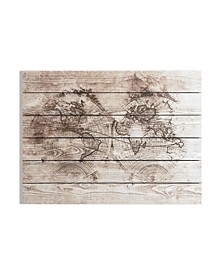 Wood World Map Print on Wood