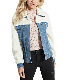 Faux-Sherpa Denim Jacket