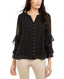 Petite Pearl Embellishment Top, Created for Macy's