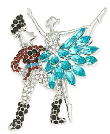 Silver-Tone Crystal Ballet Pin, Created for Macy's